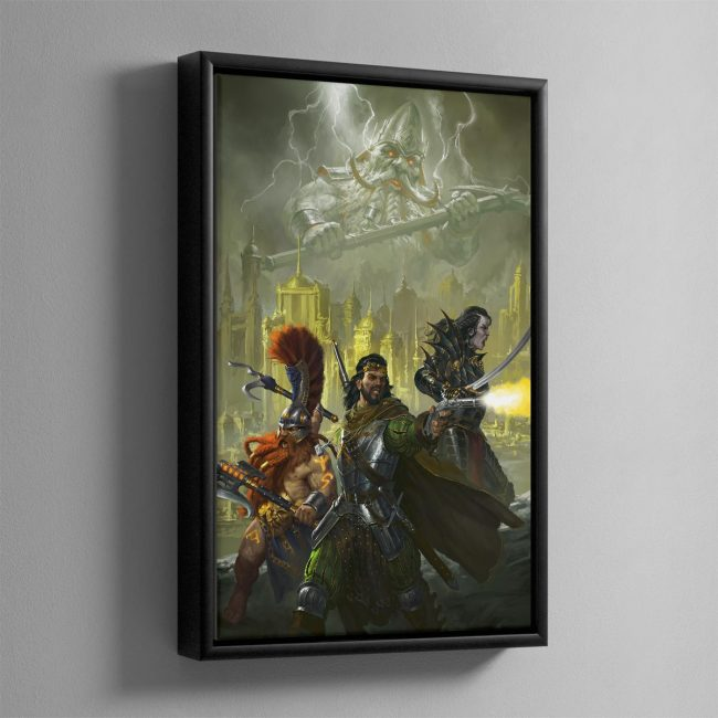 Eight Lamentations – Spear of Shadows – Framed Canvas