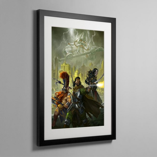 Eight Lamentations – Spear of Shadows – Framed Print