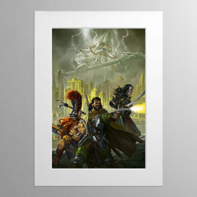 Eight Lamentations – Spear of Shadows – Mounted Print