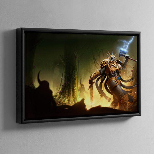 Hallowed Knights – Plague Garden – Framed Canvas