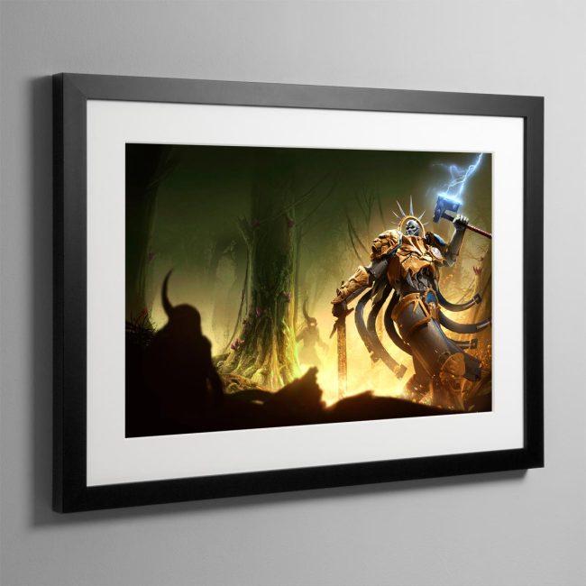 Hallowed Knights – Plague Garden – Framed Print