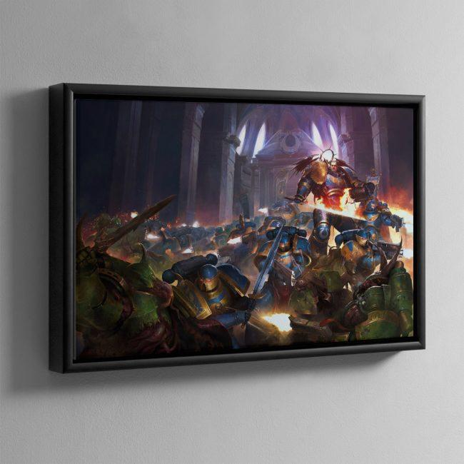 The Dark Imperium – Framed Canvas