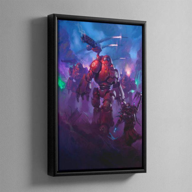 Adeptus Mechanicus Kastelan Robots – Framed Canvas