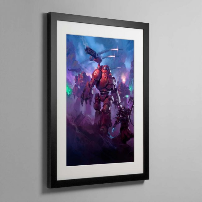 Adeptus Mechanicus Kastelan Robots – Framed Print