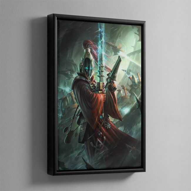 Aeldari Warlock – Framed Canvas