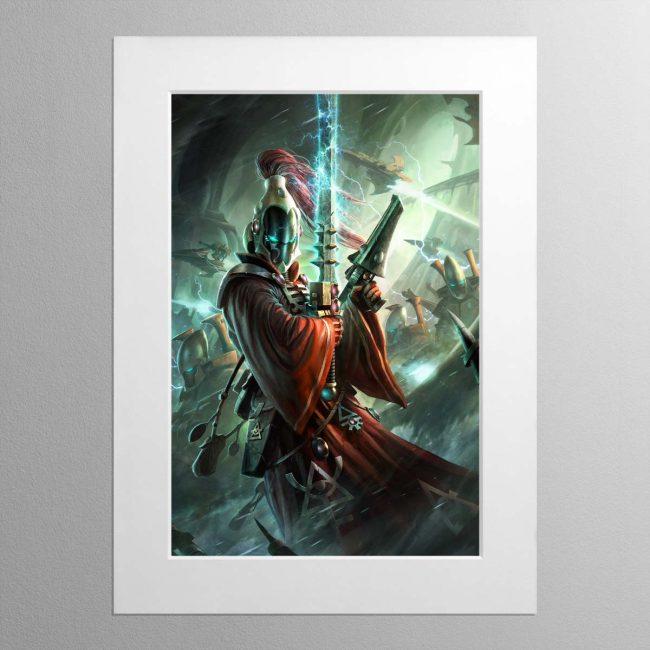 Aeldari Warlock – Mounted Print