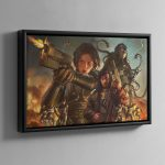 Agent of the Throne Blood and Lies – Framed Canvas