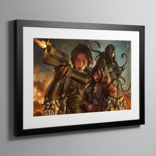 Agent of the Throne Blood and Lies – Framed Print