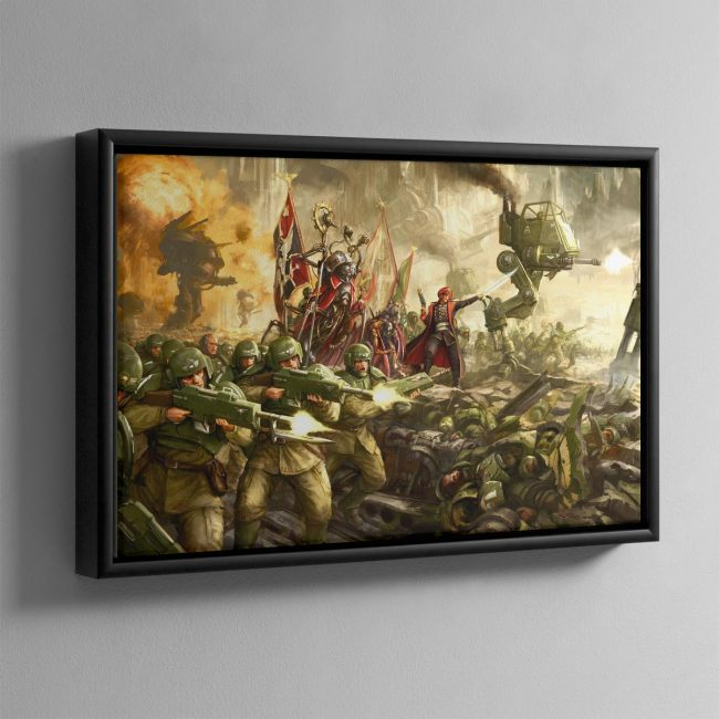Cadian Charge – Framed Canvas