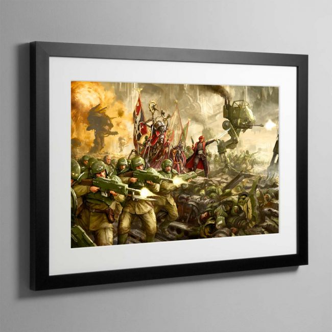 Cadian Charge – Framed Print