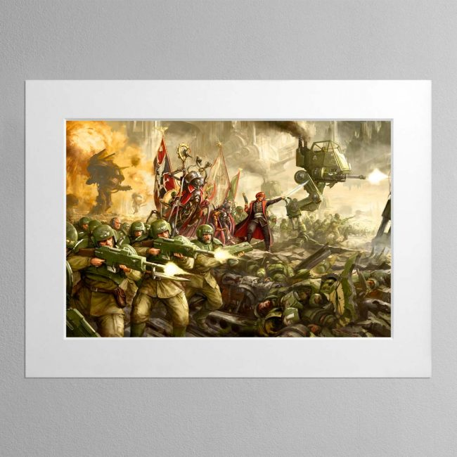 Cadian Charge – Mounted Print
