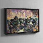 Cadian Infantry – Framed Canvas