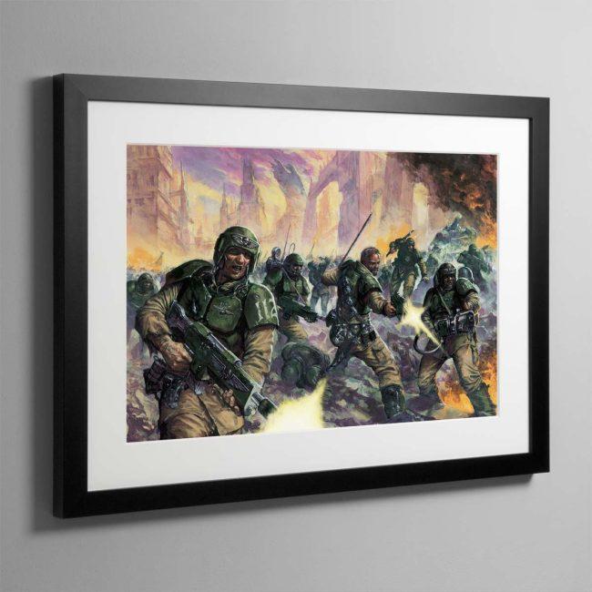 Cadian Infantry – Framed Print