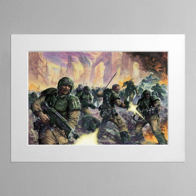 Cadian Infantry – Mounted Print