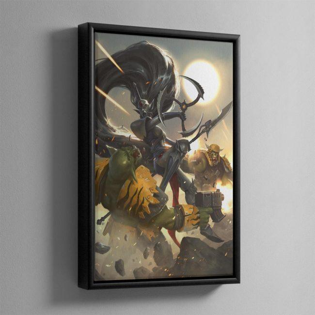 Jain Zar The Storm of Silence – Framed Canvas