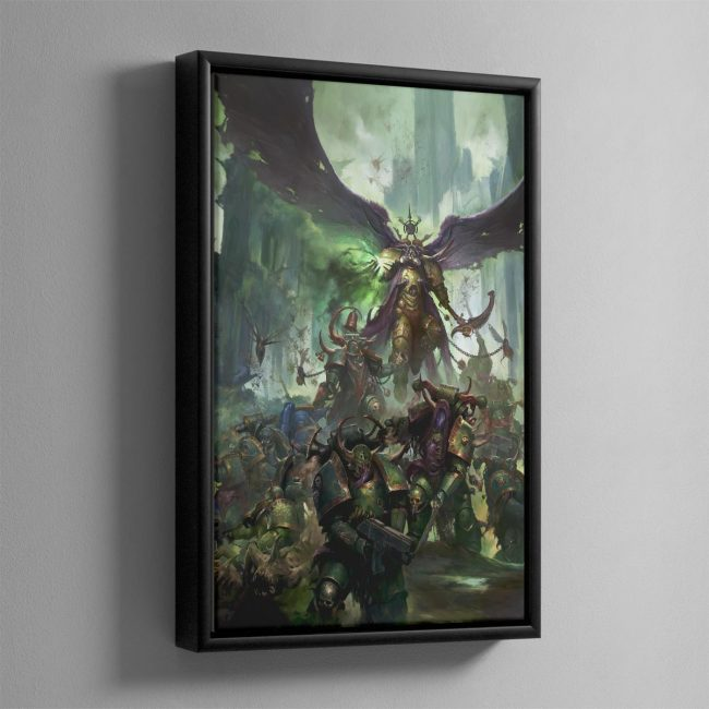 Mortarion, Daemon Primarch of Nurgle – Framed Canvas