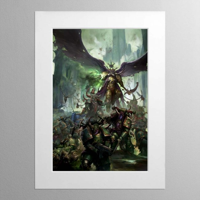 Mortarion, Daemon Primarch of Nurgle – Mounted Print