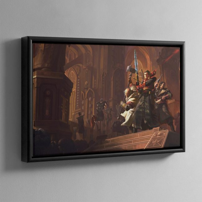 Resurrection The Horusian Wars – Framed Canvas