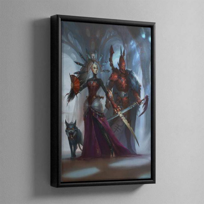 Rise of the Ynnari Ghost Warrior – Framed Canvas