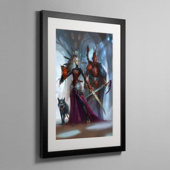 Rise of the Ynnari Ghost Warrior – Framed Print