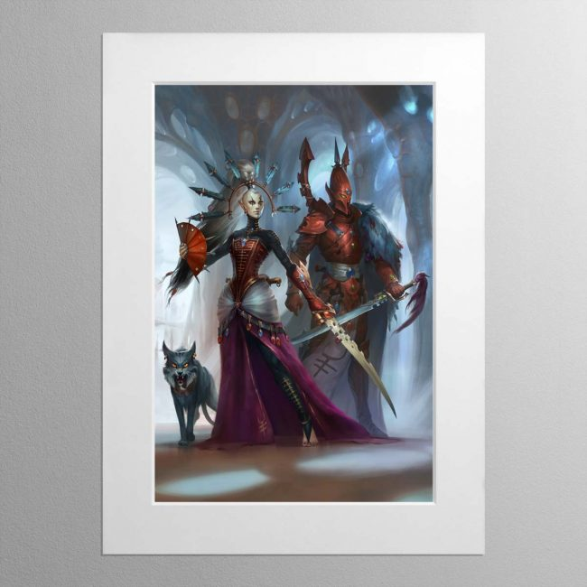 Rise of the Ynnari Ghost Warrior – Mounted Print