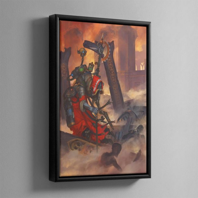 Tech-Priest Dominus – Framed Canvas