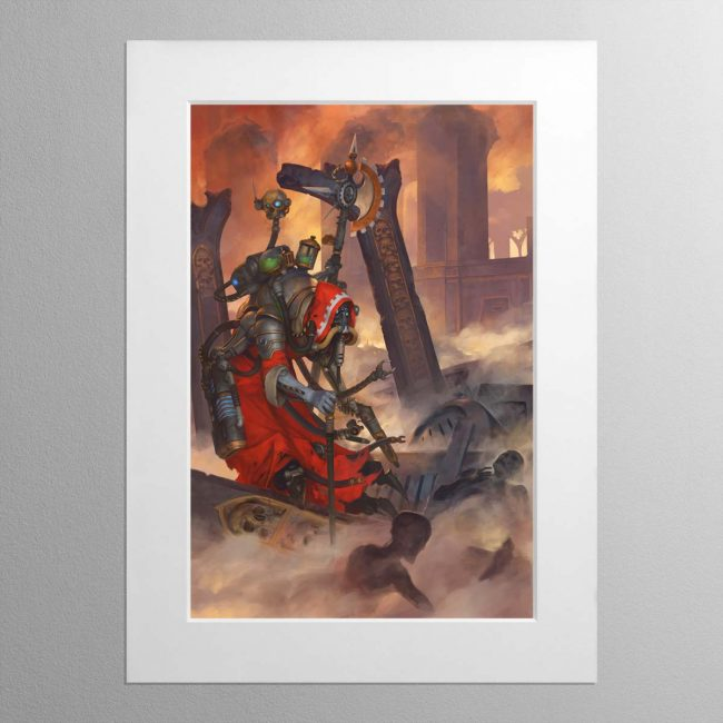 Tech-Priest Dominus – Mounted Print