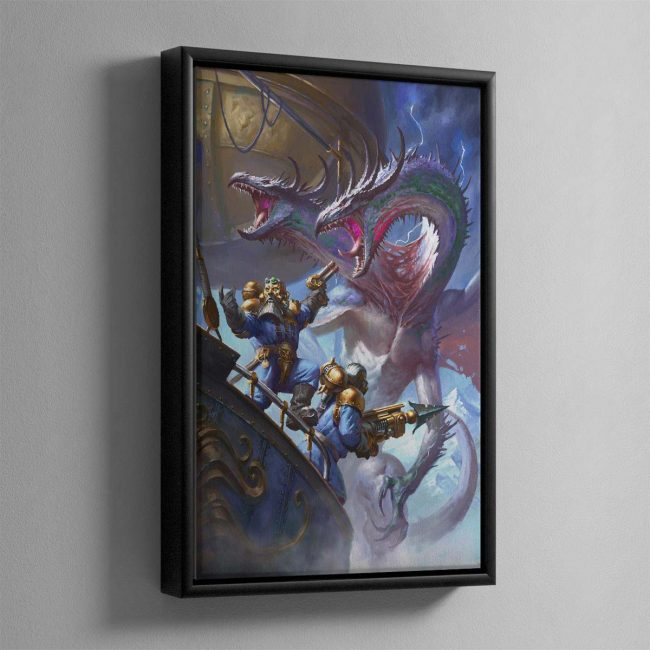 Overlords of the Iron Dragon – Framed Canvas