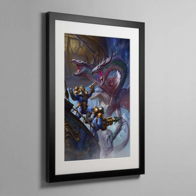 Overlords of the Iron Dragon – Framed Print