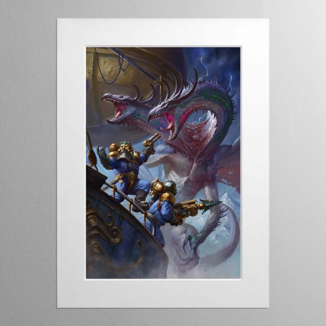 Overlords of the Iron Dragon – Mounted Print