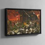 Planetstrike – Framed Canvas