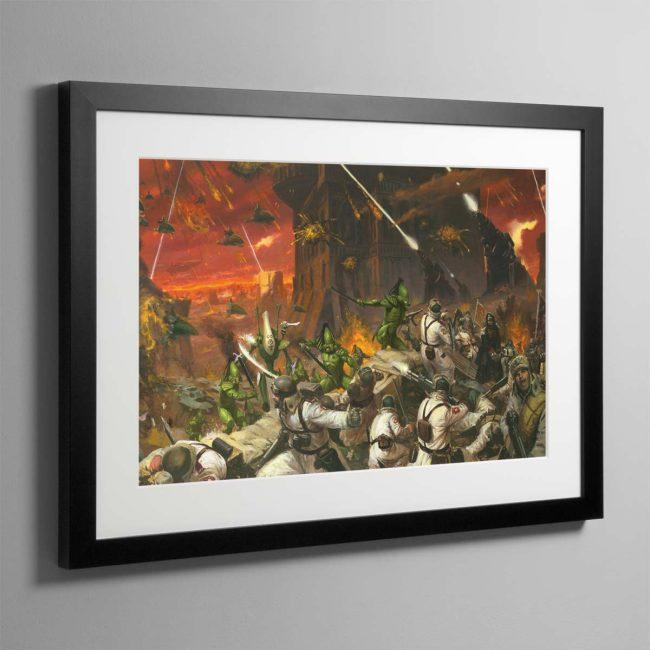 Planetstrike – Framed Print