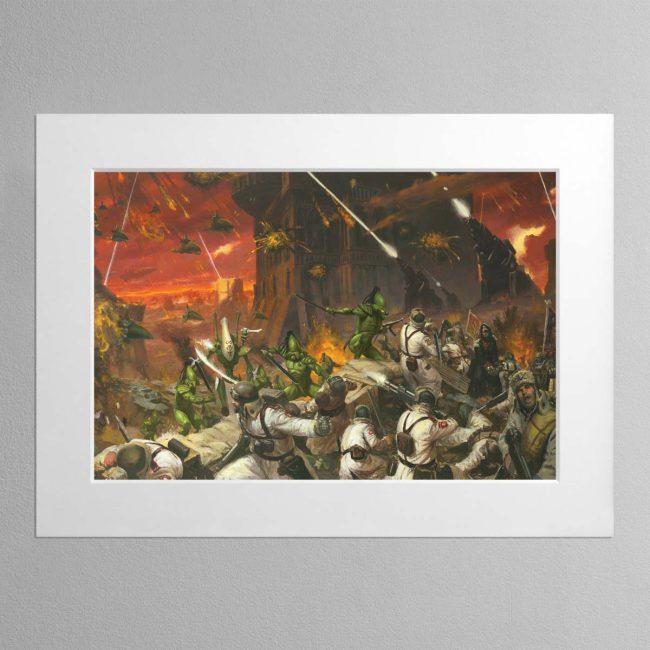 Planetstrike – Mounted Print