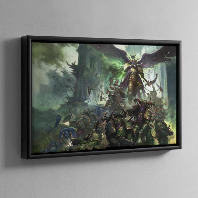 Mortarian and Deathguard Landscape – Framed Canvas
