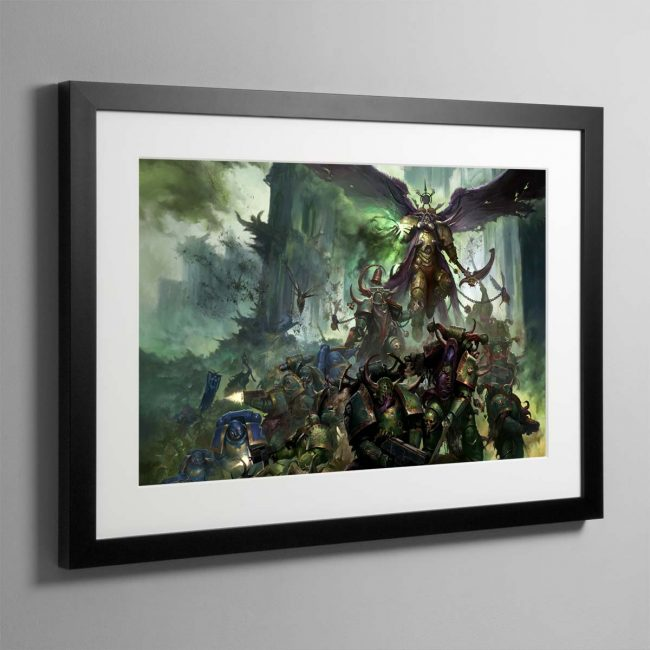 Mortarian and Deathguard Landscape – Framed Print