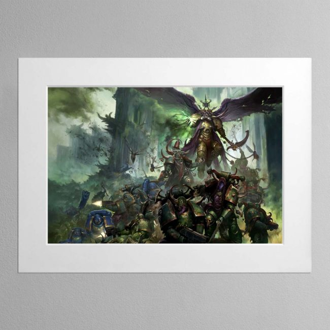 Mortarian and Deathguard Landscape – Mounted Print