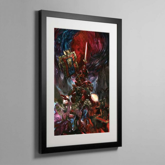 Blood Angels Command Company – Framed Print