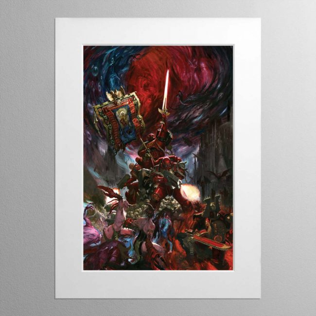 Blood Angels Command Company – Mounted Print