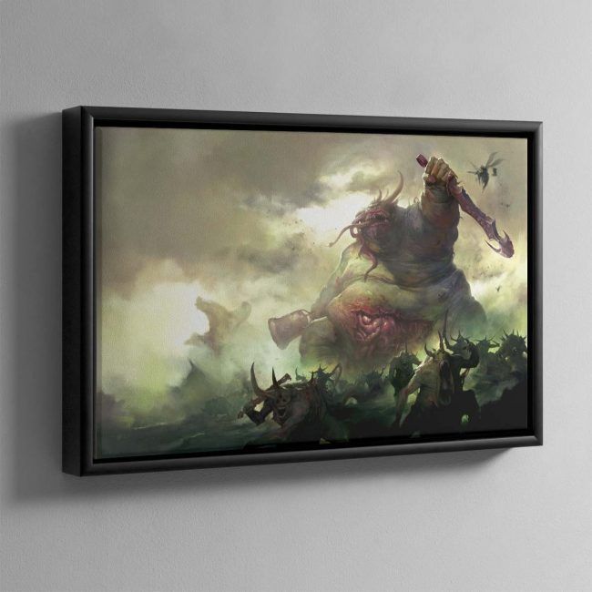 Daemons of Nurgle – Framed Canvas
