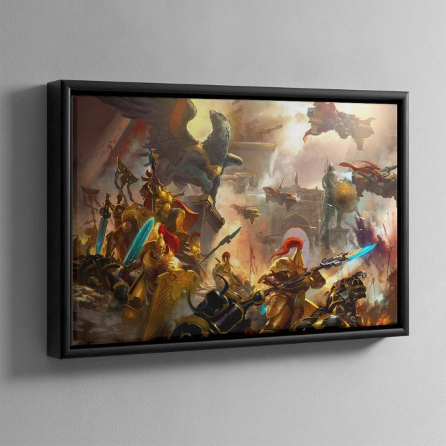 The Golden Legion – Framed Canvas
