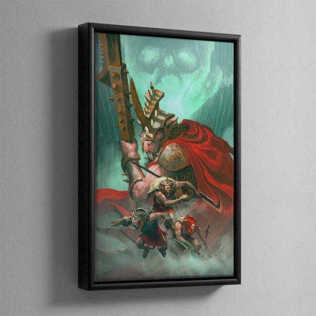 Spiteclaw's Swarm – Framed Canvas