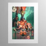 The Chosen Axes – Mounted Print
