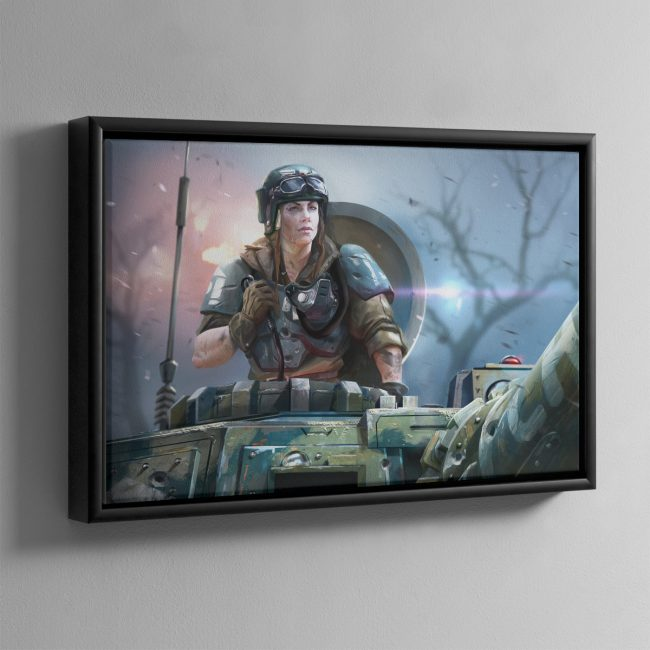 Titans' Bane – Framed Canvas