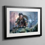 Titans' Bane – Framed Print