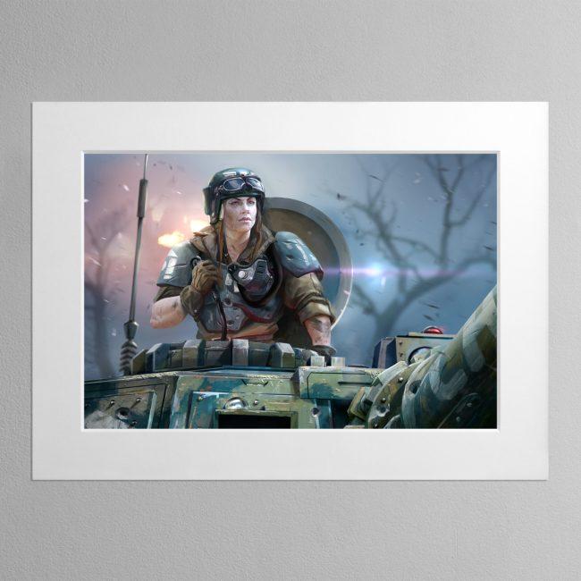 Titans' Bane – Mounted Print