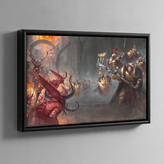 Watchers of the Throne The Emperor's Legion – Framed Canvas