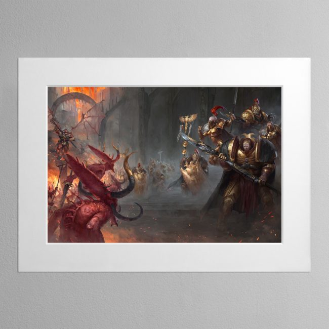 Watchers of the Throne The Emperor's Legion – Mounted Print