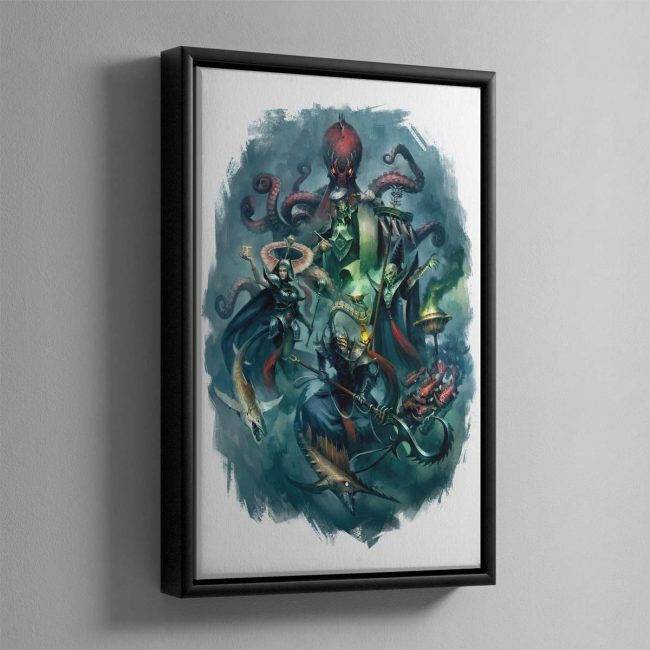 Heroes of the Idoneth – Framed Canvas