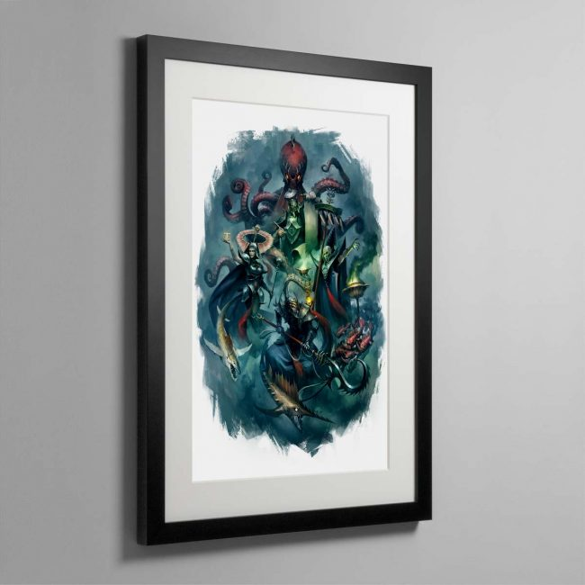 Heroes of the Idoneth – Framed Print