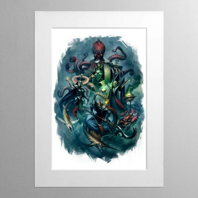 Heroes of the Idoneth – Mounted Print